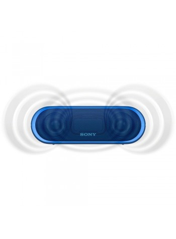 Sony SRS-XB20 Blue Portable Wireless BLUETOOTH® Speaker SRS-XB20/L (Original) from Sony Malaysia