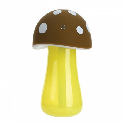 Mushroom lamp mini USB humidifier Brown