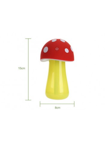 Mushroom lamp mini USB humidifier Brown