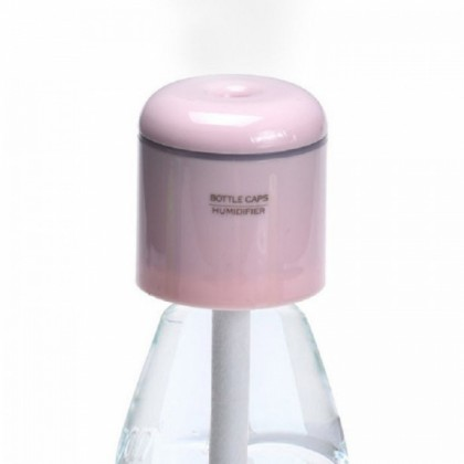 Portable Bottle Cap  Humidifier with USB Pink