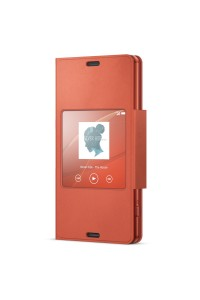 Sony SCR26/D Xperia Z3 Compact Smart Window Flip Cover Case SCR26 Orange Colour (Original)