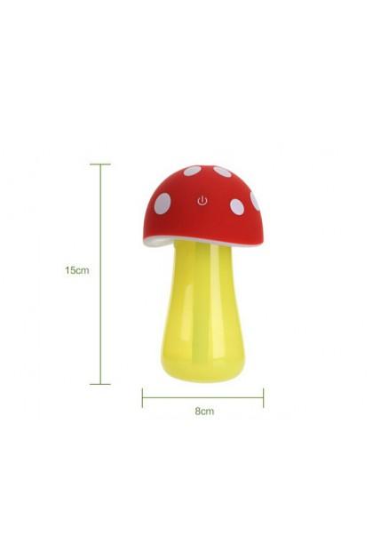 Mushroom lamp mini USB humidifier Blue