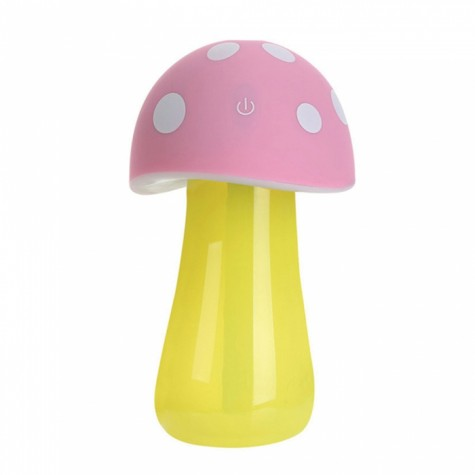 Mushroom lamp mini USB humidifier Pink