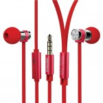 Remax Metal In-ear Earphones High Quality RM-565i  With Mic- Red