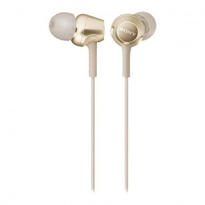 Sony MDR-EX255AP Gold In-Ear Headphones with Mic MDR-EX255AP/N (Original) from Sony Malaysia