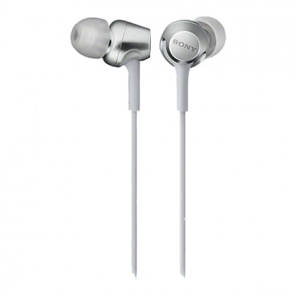 Sony MDR-EX255AP White In-Ear Headphones with Mic MDR-EX255AP/W (Original) from Sony Malaysia