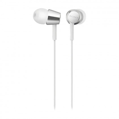 Sony MDR-EX155 White In-Ear Headphones MDR-EX155/W (Original) from Sony Malaysia