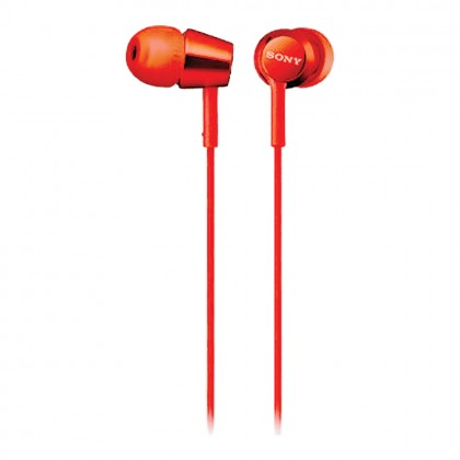 Sony MDR-EX155 Red In-Ear Headphones MDR-EX155/R (Original) from Sony Malaysia
