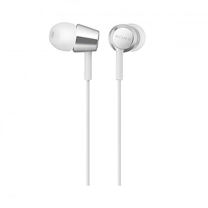 Sony MDR-EX155AP White In-Ear Headphones with Mic MDR-EX155AP/W (Original) from Sony Malaysia
