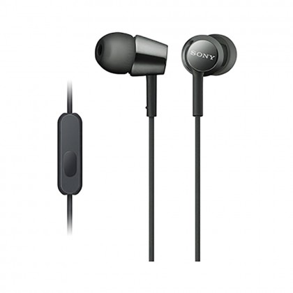 Sony MDR-EX155AP Black In-Ear Headphones with Mic MDR-EX155AP/B (Original) from Sony Malaysia