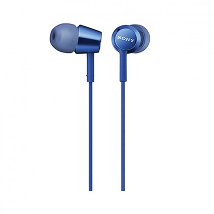 Sony MDR-EX155AP Blue In-Ear Headphones with Mic MDR-EX155AP/L (Original) from Sony Malaysia