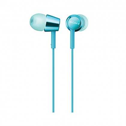 Sony MDR-EX155AP Light Blue In-Ear Headphones with Mic MDR-EX155AP/LI (Original) from Sony Malaysia