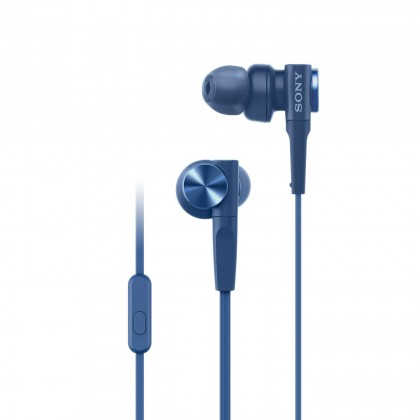 Sony MDR-XB55AP Blue EXTRA BASS™ In-Ear Headphones MDR-XB55AP/L (Original) from Sony Malaysia