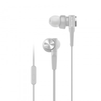 Sony MDR-XB55AP White EXTRA BASS™ In-Ear Headphones MDR-XB55AP/W (Original) from Sony Malaysia