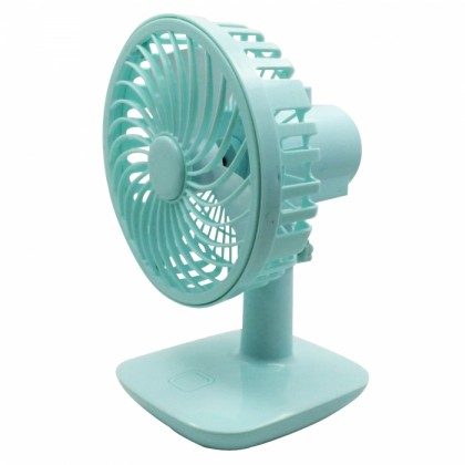 Rechargeable Mini Desk or Table Fan Blue