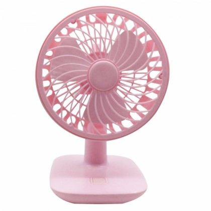 Rechargeable Mini Desk or Table Fan Pink