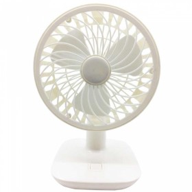 Rechargeable Mini Desk or Table Fan White