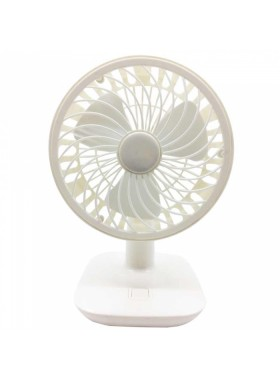 Rechargeable Cooling Mini Desk or Table Fan White