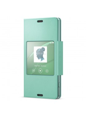 Sony SCR26/G Xperia Z3 Compact Smart Window Flip Cover Case SCR26 Green Colour (Original)