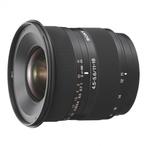 (DISPLAY UNIT) Sony SAL-1118 DT 11–18 mm F4.5–5.6 Lens (Original)