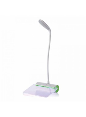 Rechargeable LED Table Lamp with Message Plate Green