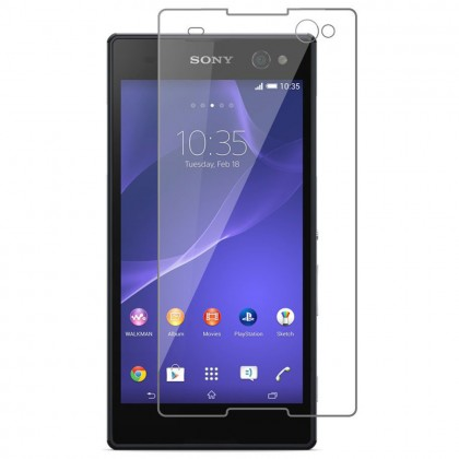 Sony Xperia C3 Half Cover Tempered Glass