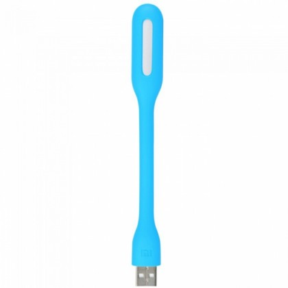 Portable and Bendable LED Light Lamp with USB Port Blue