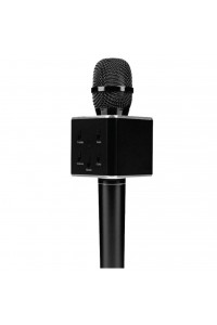 Q7 Black Portable Wireless Karaoke KTV Microphone Mic Handheld Condenser Microphone With Wireless Bluetooth Speaker Singing Stereo For Smartphones (Original)
