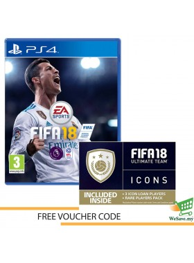 Sony PS4 Game FIFA 18 Standard Edition Playstation 4 FIFA 2018 FREE Voucher  (Original)