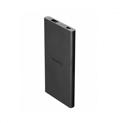 Sony CP-V5B 5000mAh Portable Charger / Power Bank Black Colour (Original) By Sony Malaysia