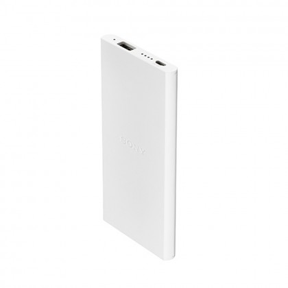 Sony CP-V5B 5000mAh Portable Charger / Power Bank White Colour (Original) By Sony Malaysia