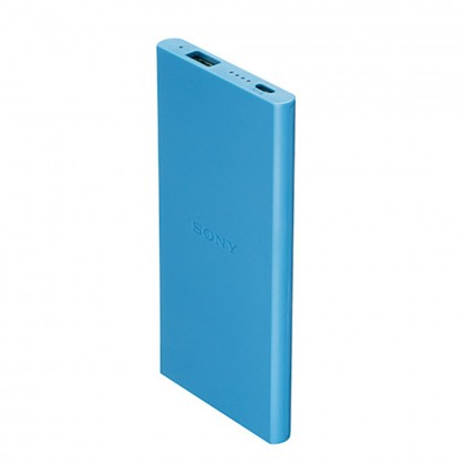 Sony CP-V5B 5000mAh Portable Charger / Power Bank Blue Colour (Original) By Sony Malaysia