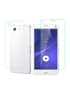 Sony Xperia Z3 Compact Tempered Front And Normal Back (2 In 1) Tempered Glass (Original)