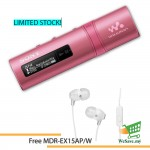 *Buy 1 Free 1!* Sony NWZ-B183F/P MP3 Player 4GB Walkman NWZ-B183F (Original) from Sony Malaysia - Pink Colour (FREE MDR-EX15AP/W)