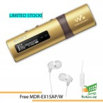 *Buy 1 Free 1!* Sony NWZ-B183F/N MP3 Player 4GB Walkman NWZ-B183F (Original) from Sony Malaysia - Gold Colour (FREE MDR-EX15AP/W)
