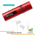 *Buy 1 Free 1!* Sony NWZ-B183F/R MP3 Player 4GB Walkman NWZ-B183F (Original) by Sony Malaysia - Red Colour (FREE MDR-EX15AP/W)