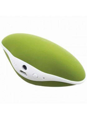 Shell Warm Hand & Mobile Power & LED Flashlight 4000 mAh Green Colour