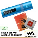 *Buy 1 Free 2!* Sony NWZ-B183F/L MP3 Player 4GB Walkman NWZ-B183F (Original) from Sony Malaysia - Blue Colour (FREE Notepad & Cable Organizer)