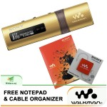 *Buy 1 Free 2!* Sony NWZ-B183F/N MP3 Player 4GB Walkman NWZ-B183F (Original) from Sony Malaysia - Gold Colour (FREE Notepad & Cable Organizer)