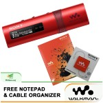 *Buy 1 Free 2!* Sony NWZ-B183F/R MP3 Player 4GB Walkman NWZ-B183F (Original) by Sony Malaysia - Red Colour (FREE Notepad & Cable Organizer)