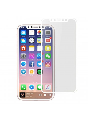 Iphone X Full Cover Screen White Colour Tempered Glass (Original)