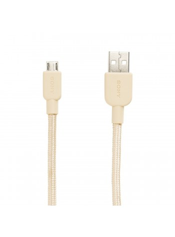 Sony CP-ABP150 Premium USB-A to Micro USB Charging Cable 1.5 Meter Gold Colour (Original)