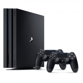 Sony PS4 CUH-7106B PlayStation 4 Pro Console  Player 8GB RAM 1TB Black Colour comes with 2 Controller DS4 (Original) 1 Years Warranty By Sony Malaysia