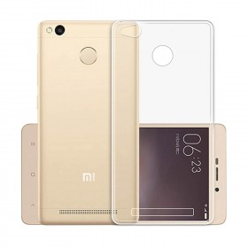Xiaomi Redmi 3S Clear Transparent Crystal TPU Silicone Case Cover (Original)