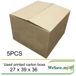 Used Moving Empty Boxes / Corrugated Shipping Carton Boxes 5Pcs in cm