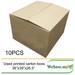 Used Moving Empty Boxes / Corrugated Shipping Carton Boxes 10Pcs in cm