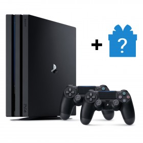 Sony PS4 CUH-7106B PlayStation 4 Pro Console  Player 8GB RAM 1TB Black Color + 2 Controller DS4 V2 + Mystery Gift (Original) 1 Years Warranty By Sony Malaysia