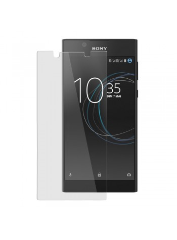 (2 in 1) Sony Xperia L1 Clear Transparent Crystal TPU Silicone Case Cover + Clear Screen Protector (Original)