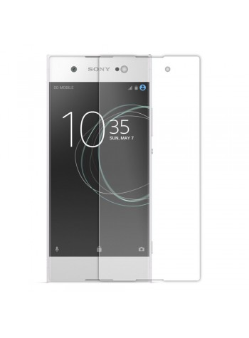 (2 in 1) Sony Xperia XA1 Plus Clear Transparent Crystal TPU Silicone Case Cover + Clear Screen Protector (Original)