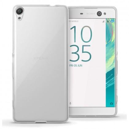 (2 in 1) Sony Xperia XA Ultra Clear Transparent Crystal TPU Silicone Case Cover + Clear Screen Protector (Original)